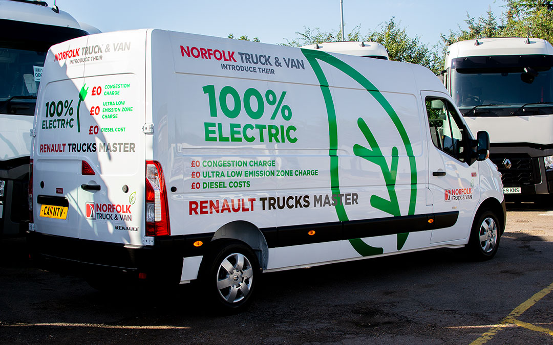 Norfolk Truck & Van receive all-electric Renault Master demonstrator.